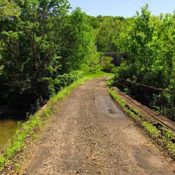 2015: The turnpike bridge with the tunnel in the distance.