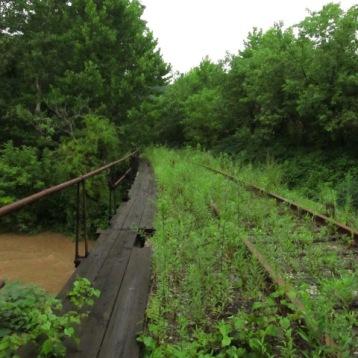 2013: The turnpike bridge that crosses Turtle Creek.
