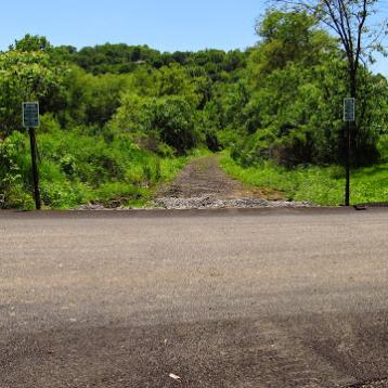 2015: Crossing at Lilian Avenue. No tracks left.