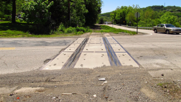 2015: Trafford Road still has tracks.