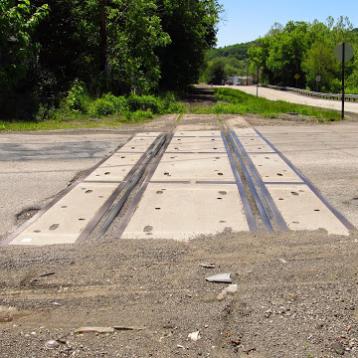 2015: Trafford Road still has tracks.