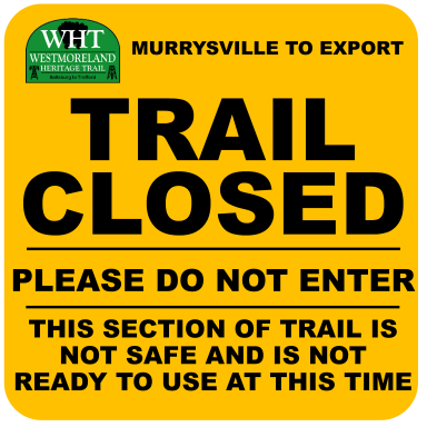 WHT Murrysville to Export Trail Closed